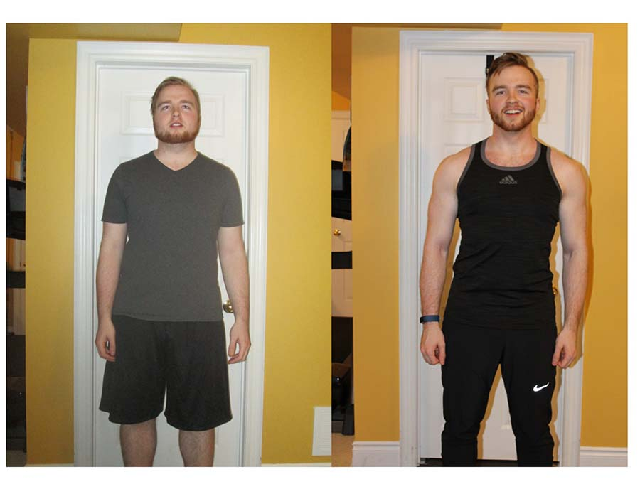 Man before and after exercise pictures